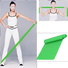WSFS Hot Sale Green 1 5m Rubber Stretch Resistance Exercise Fitness Band
