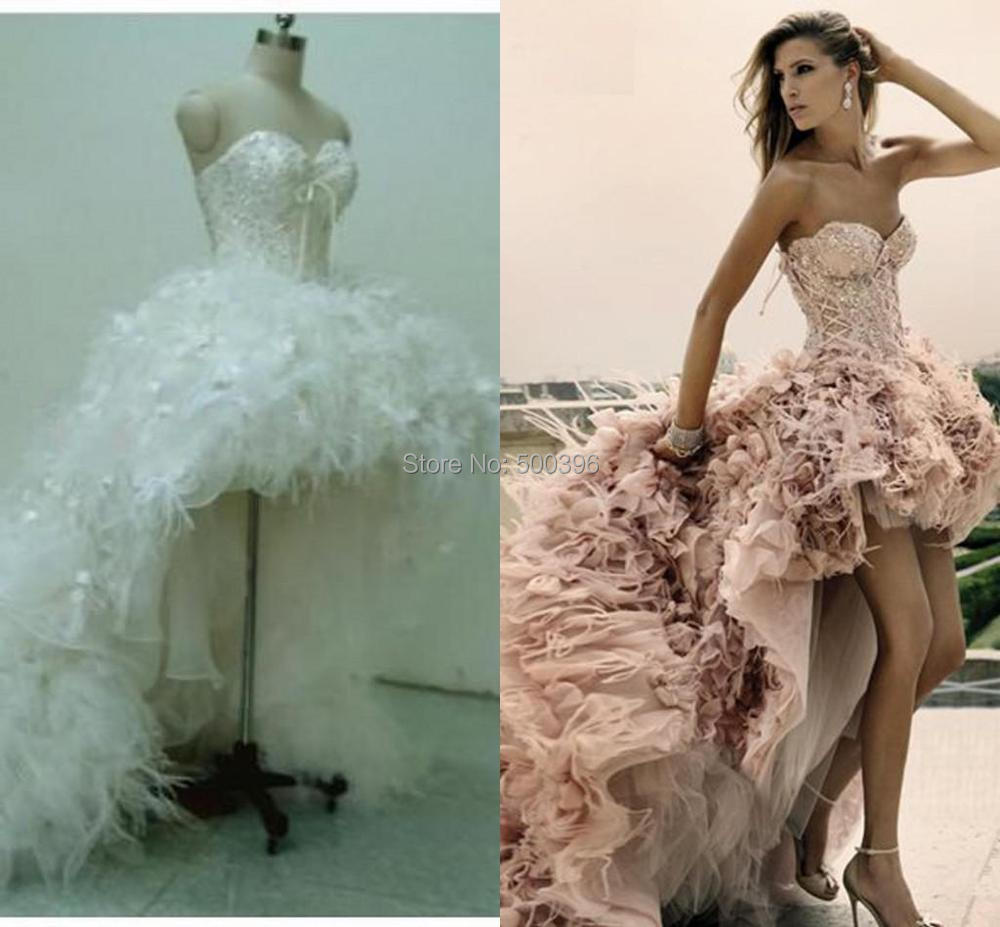 Best Wedding: couture bridal gowns with feathers