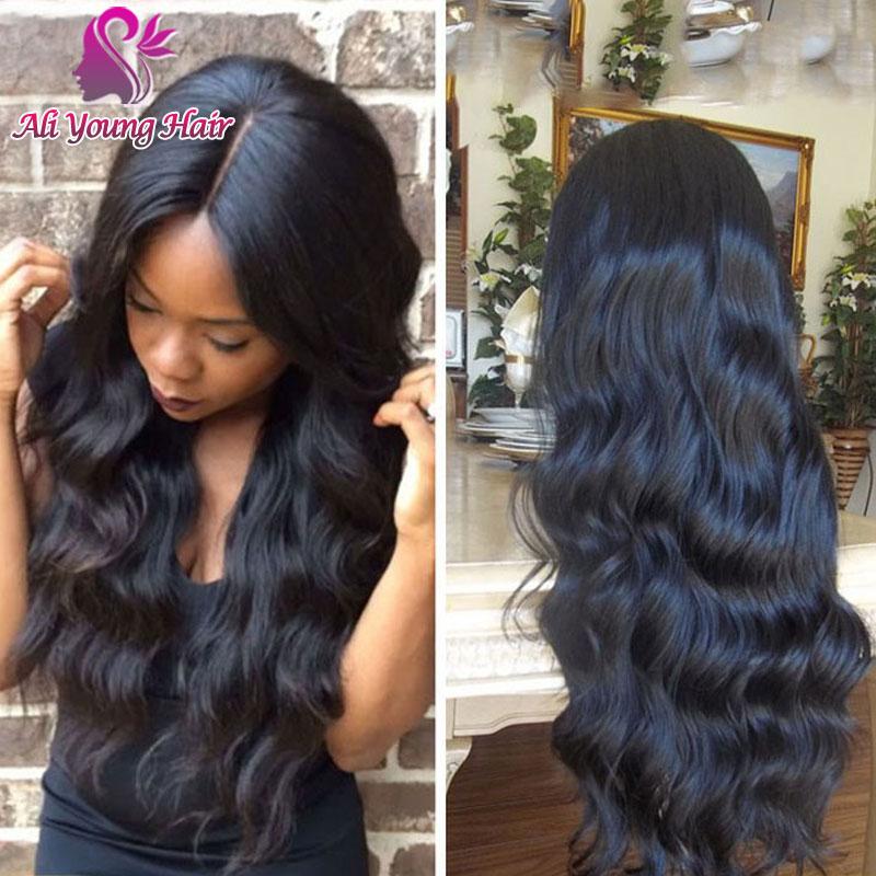 Body Wave Unprocessed 4x4 Silk Base Lace Front Wig Virgin Brazilian Human Hair Glueless Silk Top Lace Front Wigs For Black Women<br><br>Aliexpress