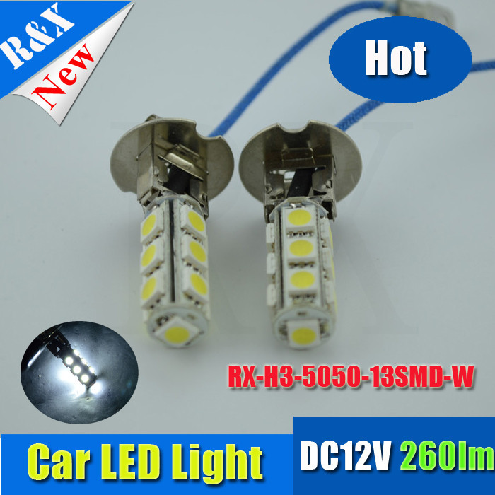 H3 5050 SMD 13 LED DC12V Car Auto Headlight Fog Head Lights Lamp Bulb White s - RX-autoled002 store