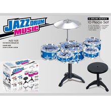 2016 Arrival 10pieces Series Drum set toys Big size Jazz Drum Toys+Chair Drum kit toys Tom-tom toys Musical Instrument for kids(China (Mainland))