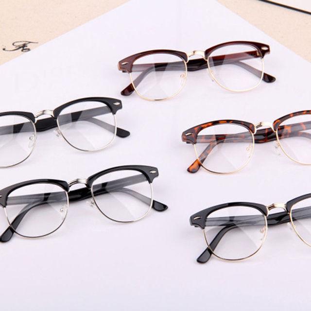 1 шт. классический ретро прозрачные линзы Nerd оправ-очки мода марка дизайнер очки ...