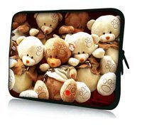 "Free shipping 13"" Bear Baby Soft Laptop Sleeve Case Bag Pouch For 13.3"" Apple MacBook Pro,Air,HP Folio,Waterproof,Shockproof(China (Mainland))"