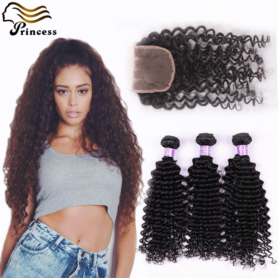 Cheap Malaysian Human Hair With Closure Deep Curly Unprocessed Virgin Hair With Closure Virgin Malaysian Curly Hair With Closure