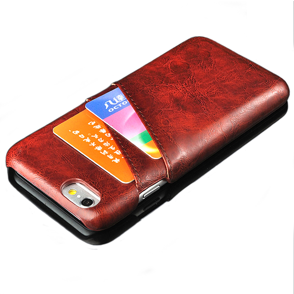 Colorful Leather Cover Case For iPhone 6s 6 Plus With Wallet Card Holder Luxury Leather Case Cover For iPhone 6 6S Plus Case(China (Mainland))