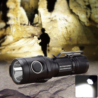 2015 Rechargeable Smallest Lightest USB Powered 1000lm Palm Size Black Flashlight LED Light For Hiking Climbing