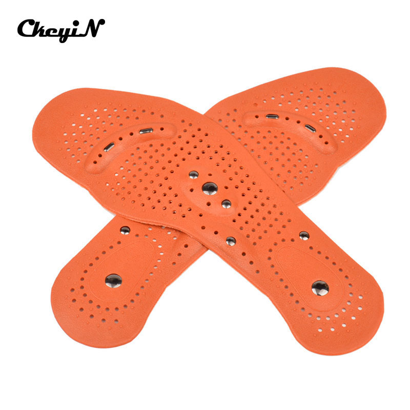 Ckeyin New 1 Pair Clean Foot Feet Magnetic Plastic Therapy Massage Insole Shoe Boot Thenar Pad Health Care Foot Massage AM026B(China (Mainland))