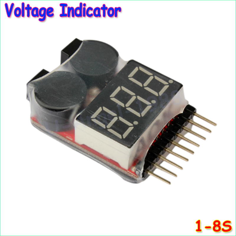 1pcs Hot Sell 1-8S LED Low Voltage Buzzer Alarm Lipo Voltage Indicator Checker Tester Wholesale Dropship(China (Mainland))