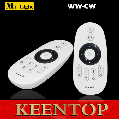 2015 New Dimmable 2.4G 4-Zone Single color White Warm white Mi Light Wireless Controller RF Wifi LED Remote Bulbs - Shenzhen KEENTOP Investment Industrial Co., Ltd. store