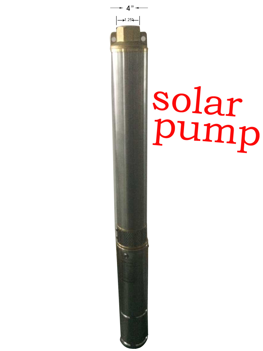 New hot selling Solar Pump For Water Cycle Fountain Fountain Garden ,DC 48v 750w water pump, free shipping,4SPC5.5/58-D48/750(China (Mainland))
