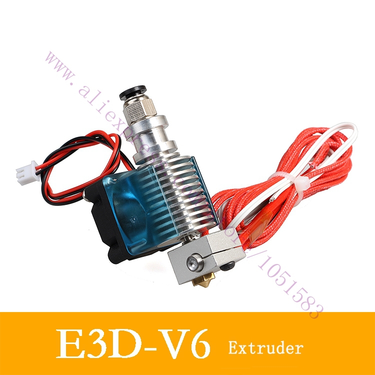 E3D V6 1.75mm Bowden, E3D V6 All metal J-head Hotend Full Set, 0.4mm/0.3mm/0.5mm Nozzle<br><br>Aliexpress