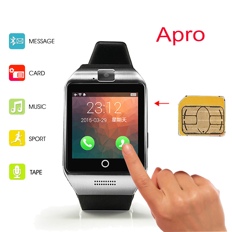 2016 New Bluetooth Smart Watch Waterproof Apro Smartwatch Support NFC SIM Card 2 0M Camera For