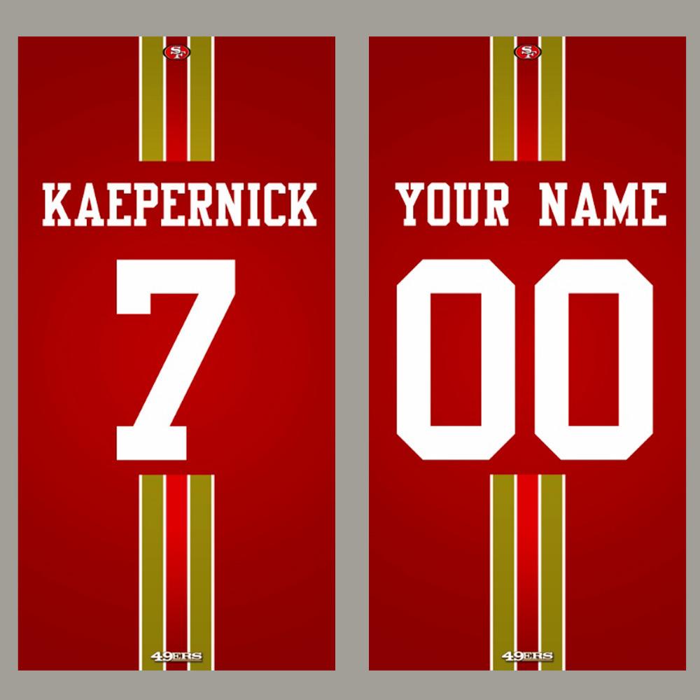 San Francisco 49ers towels KAEPERNICK MONTANA GORE WILLIS CLARK beach towel American Football towel nfl bathtowel(China (Mainland))