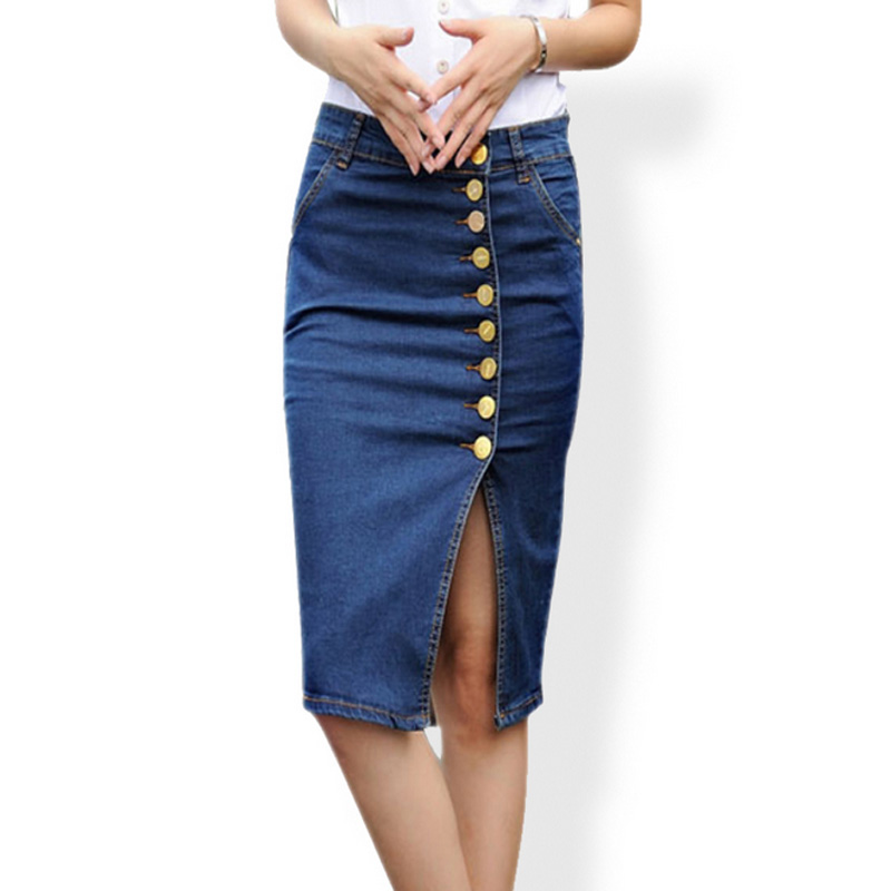 High Quality Denim Skirt Knee Length-Buy Cheap Denim Skirt Knee ...