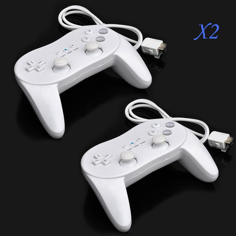 2PCS Classic Pro Wired Game Controller Pro for Nintendo Wii Game Remote(China (Mainland))