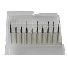 10 unids 2.1 mm – 3.0 mm carburo de tungsteno Mini Micro Drill Bit herramienta para tarjeta de circuito PCB CNC brocas de máquina de la joyería de carburo