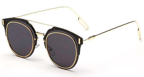 2016 Fashion Trend Retro Sunglasses Women Metal Round Sun ...