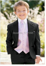NEW Kid Complete Designer Boy Wedding Suit/Boys' Attire Custom-made(Jacket+Pants+Tie+Vest+Girdle + Shirt+Towel)(China (Mainland))