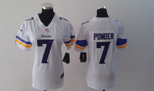 2016 Women Ladies Minnesota Vikings, 5 Teddy Bridgewater 28 Adrian Peterson 84 Cordarrelle Patterson,100% stitched logo(China (Mainland))