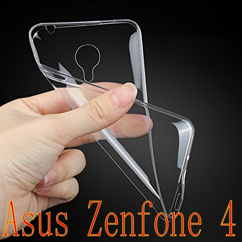 new arrived case cover for ASUS Zenfone 4 case Ultra Thin Crystal Clear Rubber Soft Cover Case Back For ASUS Zenfone4 A400CG(China (Mainland))