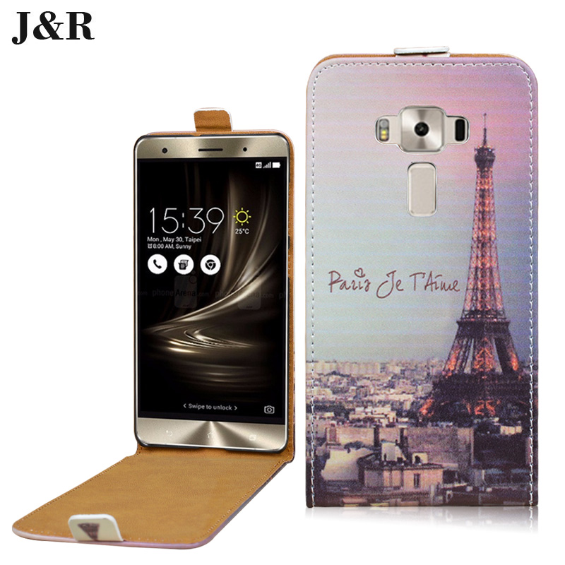 ZS570KL Flip Case For Asus ZS570KL Leather Case For ASUS Zenfone 3 Deluxe 5.7 inch ZS570KLG Vertical J&R Mobile Phone Bag & Case(China (Mainland))