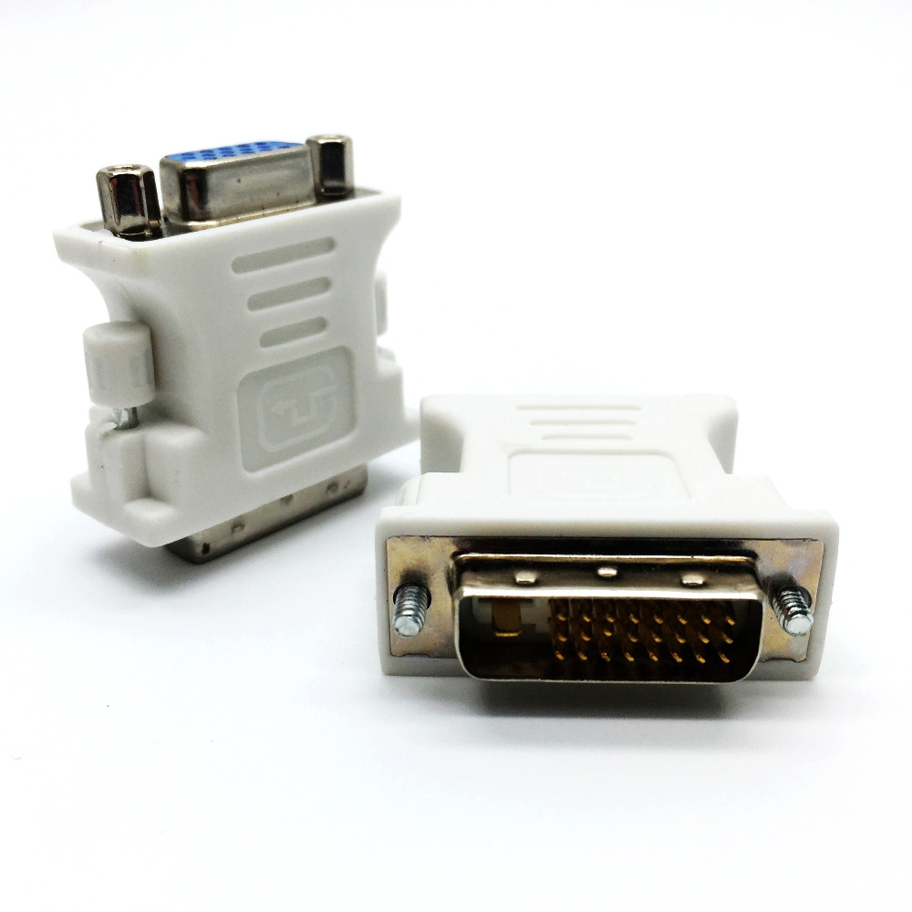 1Pcs DVI(24+1)to VGA Converter Male to Female DVI Adapter to VGA Adapter Convertor for HDTV Monitor Projector(China (Mainland))
