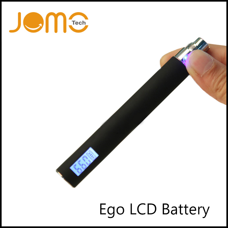 Factory Price Stainless Steel Electronic Cigarette Battery Ego Lcd E Cigarette Battery 650/900/1100mah e Cig Battery Jomo-03