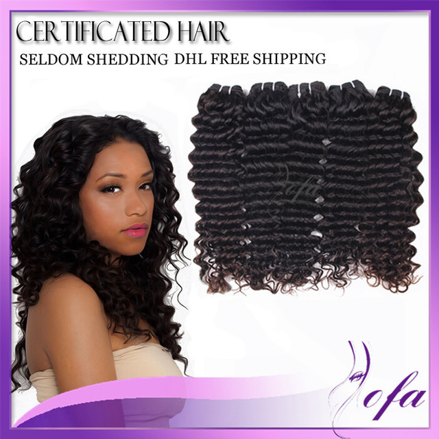 Crochet Hair Deep Wave : ... deep wave natural black 303234 remy human hair-in Hair ...