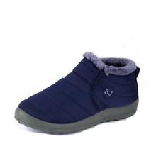 Schnee Stiefel Frauen Schuhe Winter Flache Unisex Stiefeletten Weibliche Slip Auf Furry Pelz Skid Plus Größe Warme Plüsch Paar stil Baumwolle(China)