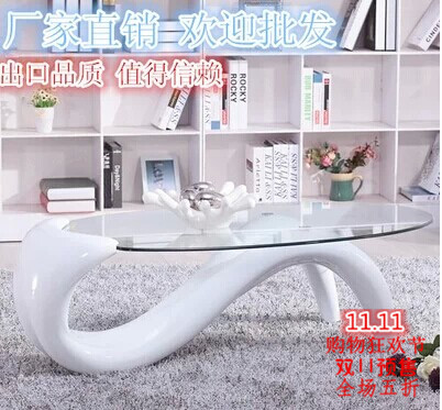 Tempered Glass Coffee Table Minimalist Modern Creative Personality