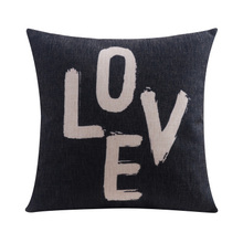 LOVE Cotton linen Cushion cover
