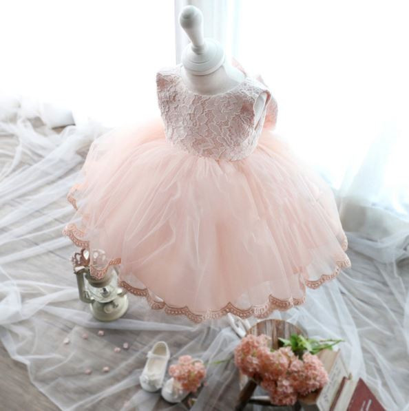 High Quality Baby Girl Dress Baptism Dress for Girl Infant 1 Year Birthday Dress for Baby Girl Chirstening Dress for toddler(China (Mainland))