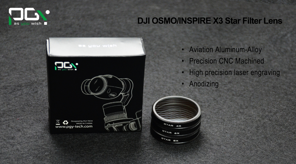 PGY DJI OSMO inspire1 X3 Professional Advanced Camera Lens Filte star Handheld 4K Camera Gimbal 4X 6X 8X UAV drone accessories