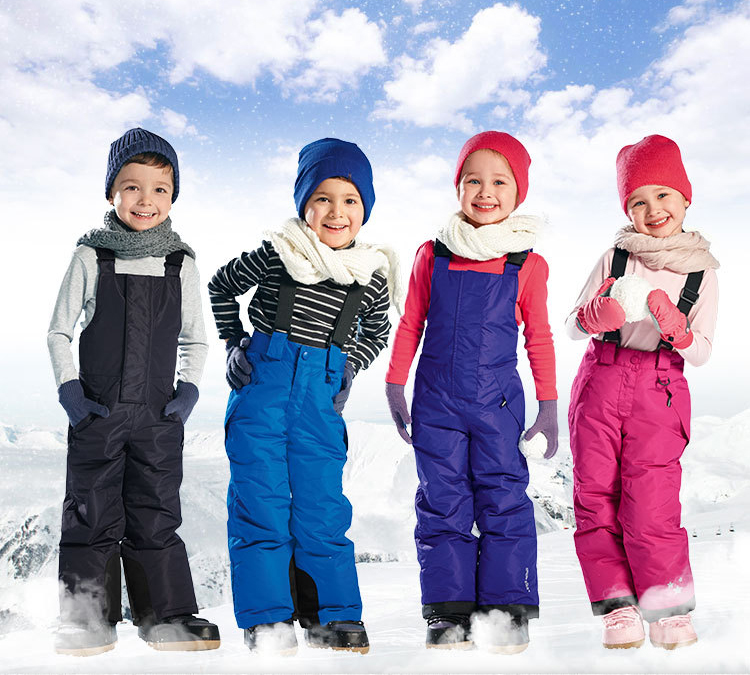 Children's Clothing winter windproof and waterproof girls pants children overalls pants children Trousers boys ski pants(China (Mainland))
