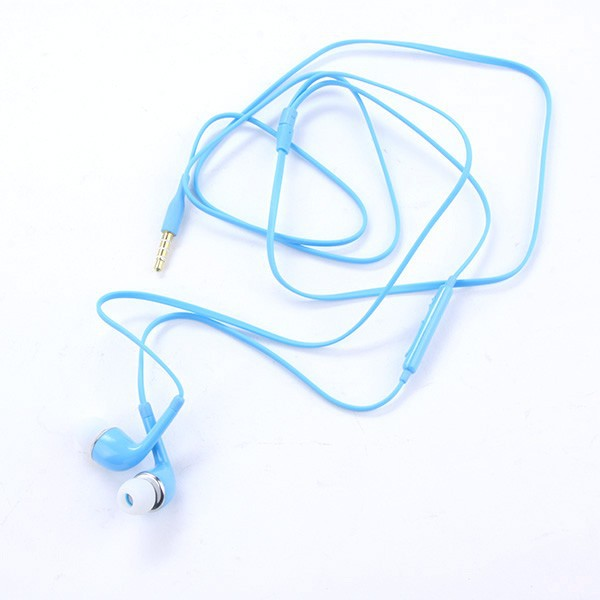 3.5mm Stereo Handsfree Headset In-ear Earphones Flat Wired Dual Earbuds Microphone For Samsung Galaxy Hot Sale