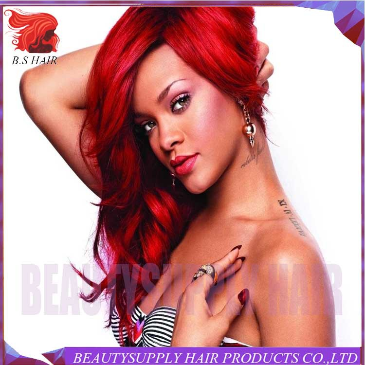 Free Shipping heat resistant cheap long black red wavy glueless synthetic lace front wig<br><br>Aliexpress