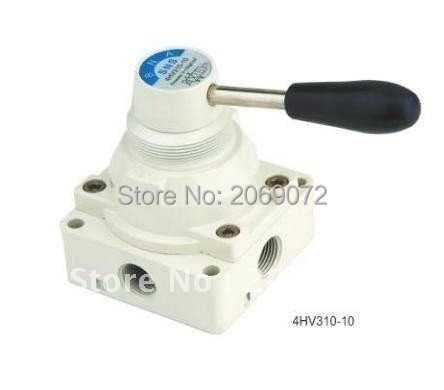 "1pcs 4 way 3 position Manual Hand lever Pneumatic Valve 1/4"" BSPT Center Closed(China (Mainland))"