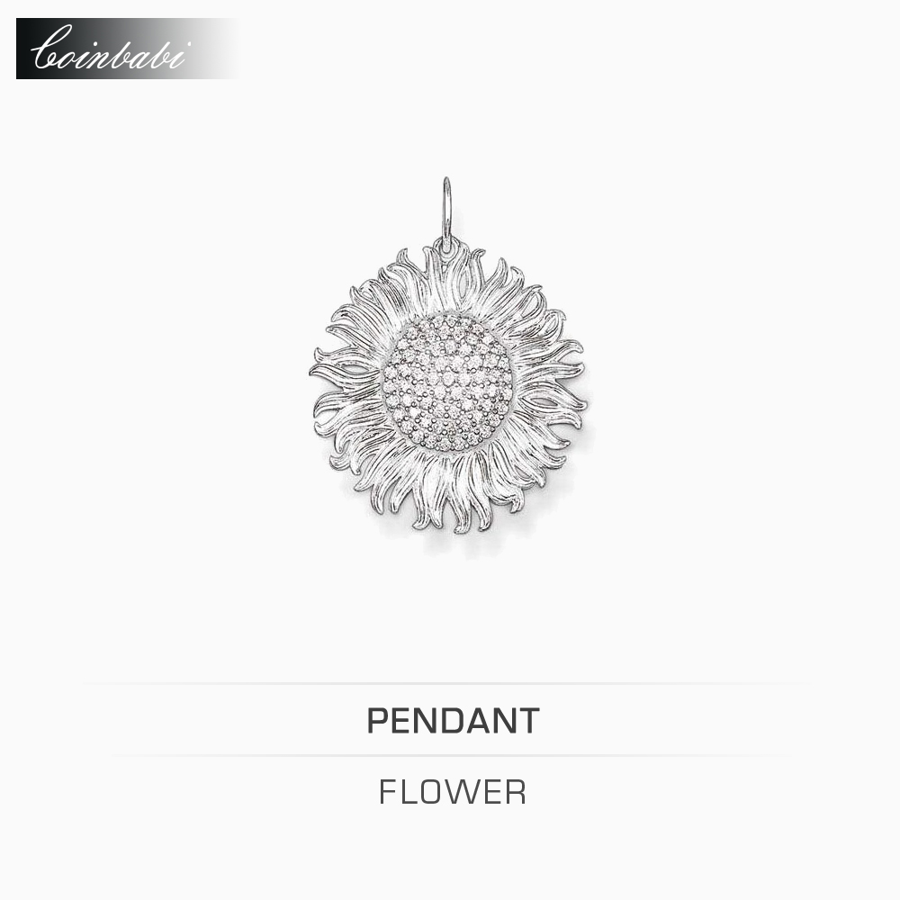 Pendants Sun Flower 925 Sterling Silver Gift For Women Trendy Wholesale Thomas Style Glam And Soul Pendant Fit Ts Necklace(China (Mainland))