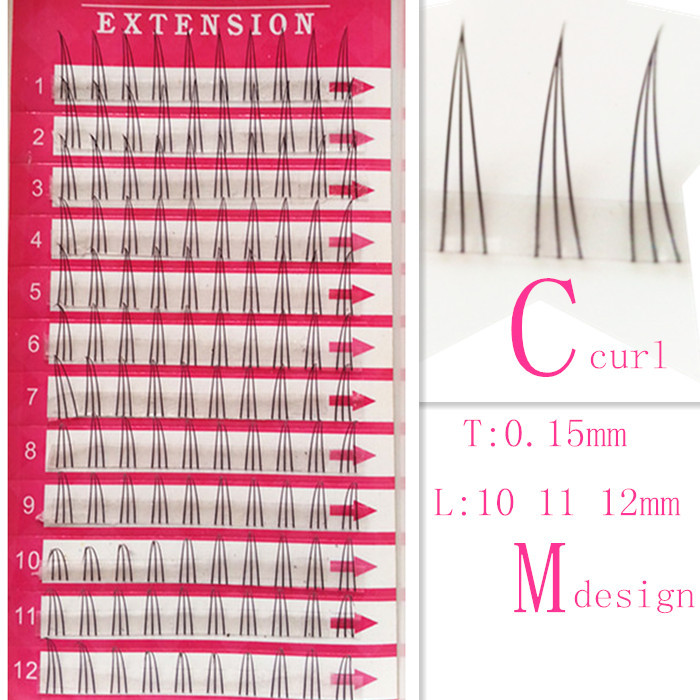 2015 new products top quality 3tray/lot M design eyelash extension fashion individual lashes 0.15C false eyelash glue 120pcs(China (Mainland))