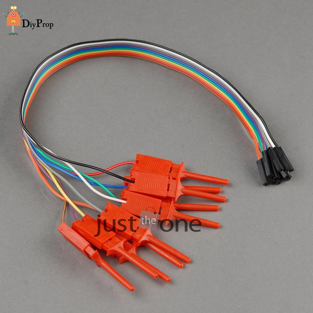 Brand New High Efficiency Test Hook Clip Ideal for Logic Analyser 10pcs/ Set Hot(China (Mainland))