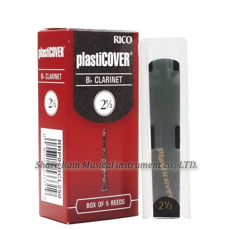 Strength 1.5 Rico Plasticover Bb Clarinet Reeds 5-pack