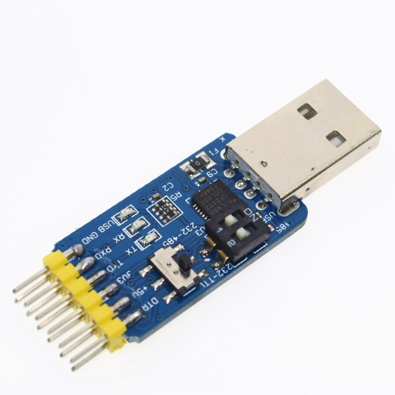 6 in 1 CP2102 USB to TTL 485 232 Huzhuan 3.3V / 5V compatible Six multifunction serial module