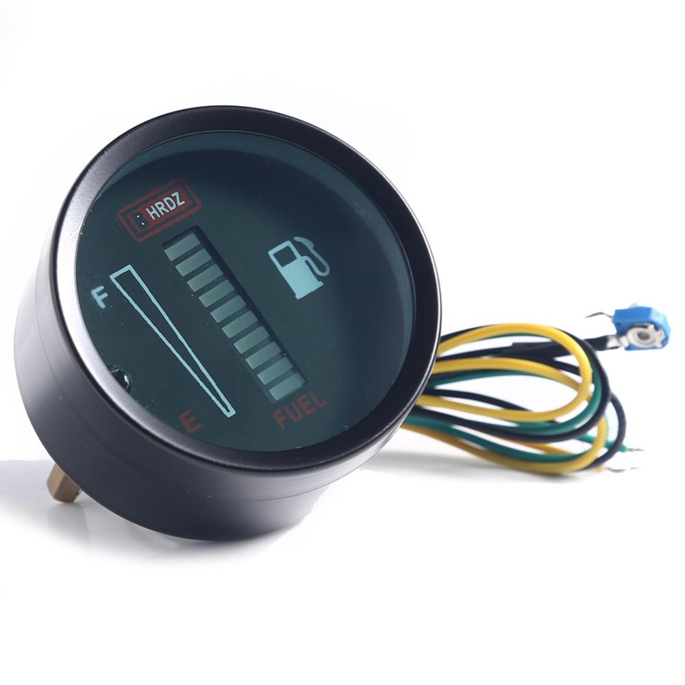 50mm Fuel Meter LED Digital Instruments DC12V Fuel Gauge Fuel Meter LED Digital DC12V Fuel Gauge For Car Motorcycle