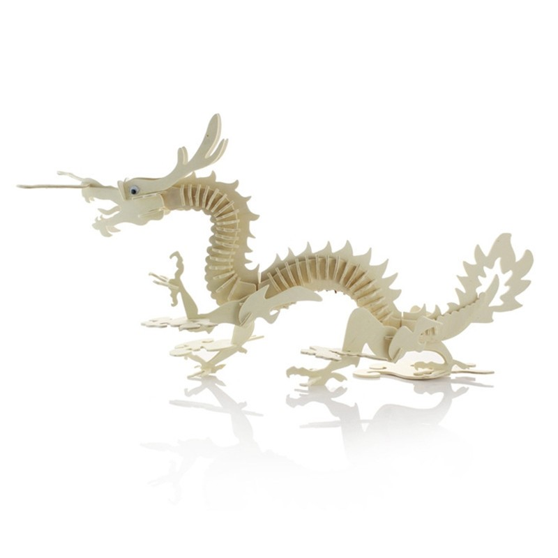 3D Puzzles Wooden Kids Jigsaw Toys Children Early Education Planning Learning Animal Chinese Dragon Model Homen Decor(China (Mainland))