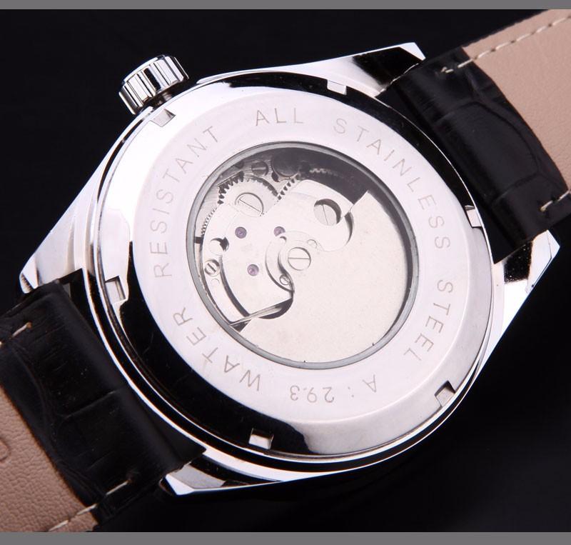 FORSINING мода повседневная мужские автоматические самостоятельно ветер часы кожаный ремешок популярный бренд tourbilion наручные часы relógio masculino