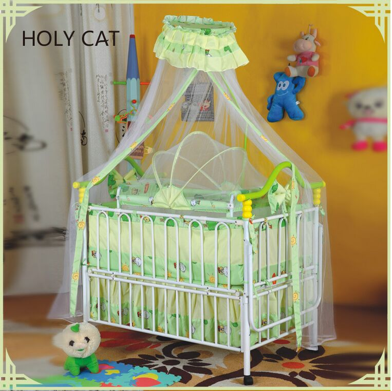 Fashionable iron baby cribs with cotton fabric hanging cradle,kids bed baby bed cot  TC-408<br><br>Aliexpress