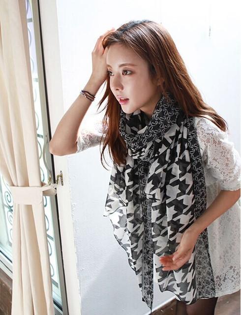 2016 мода шарф женщины Dot париж пряжи шарф джокер шали 170 * 80 см бесплатная доставка