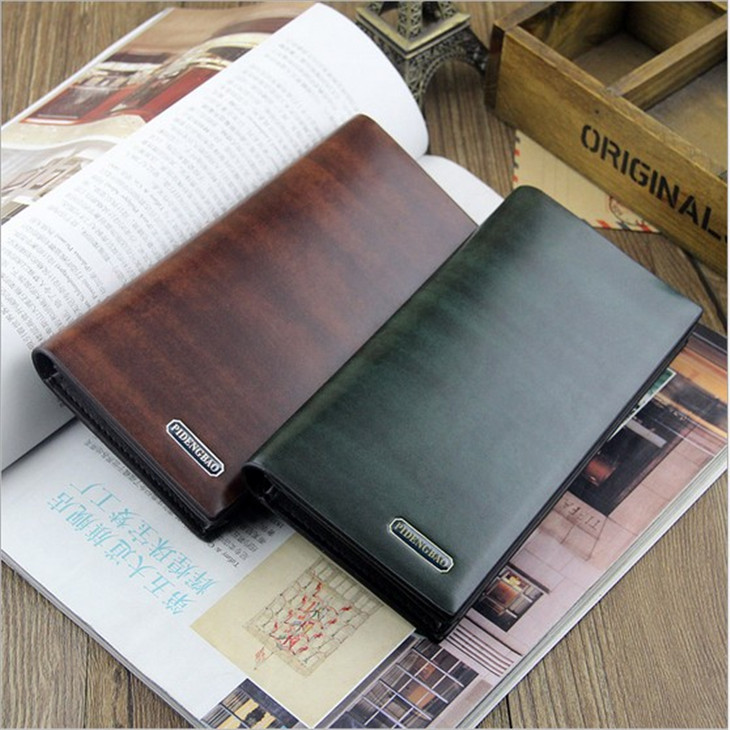 M02 2014 New fashion solid male clutch wallets , the mens bags purses long leather wallet for famous brand men<br><br>Aliexpress