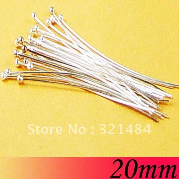 20mm Silver Plated Jewelry Bead Making Findings - Ball Head Pins(China (Mainland))