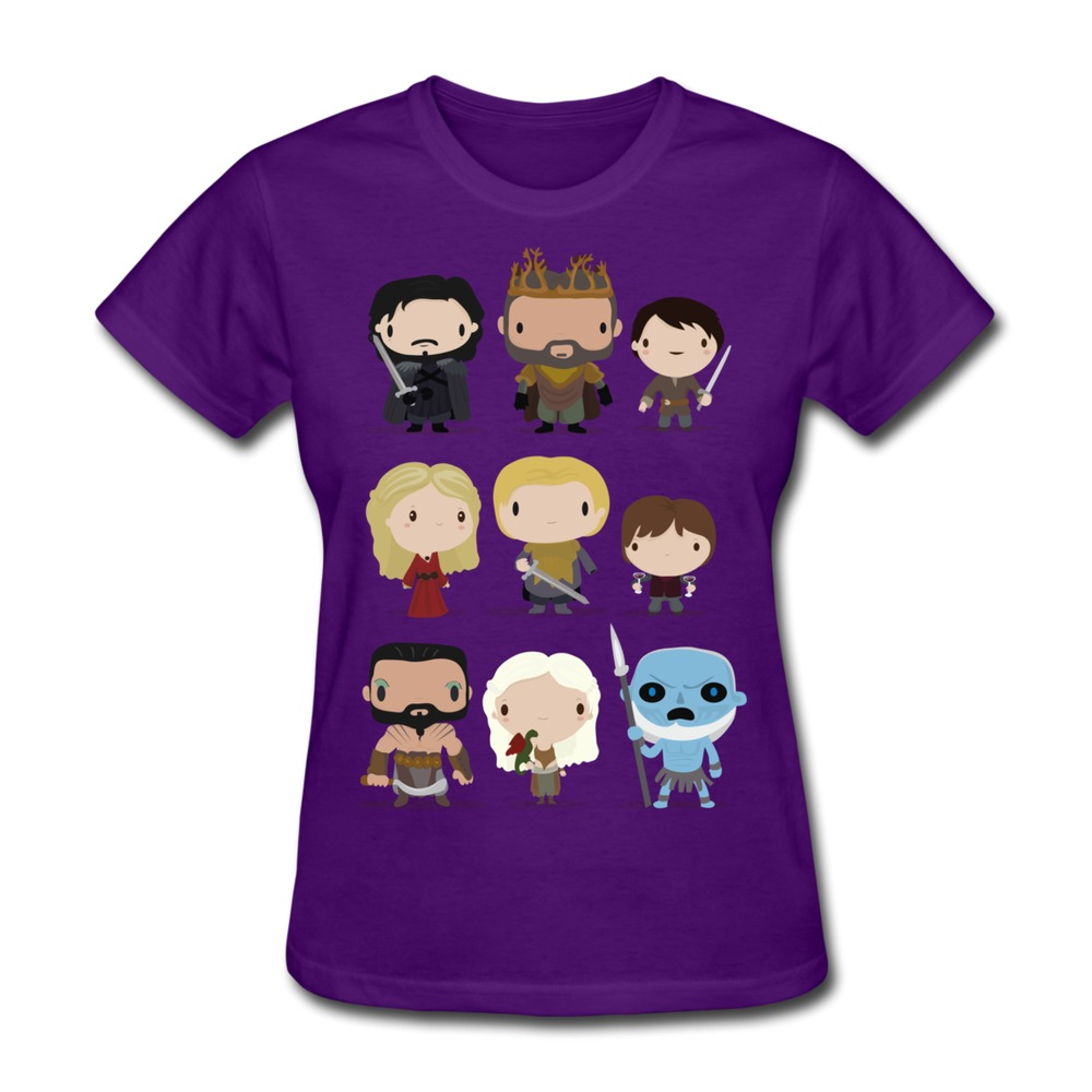 custom short sleeve tee shirt women game of thrones characters funny photo women 39 s t shirts drop. Black Bedroom Furniture Sets. Home Design Ideas